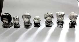 Personajes de Mafalda en cerámica, blanco y negro 300 los 7