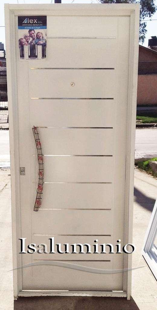 Puerta Doble Chapa Inyectada 080 X 200 con barral y buñas 0