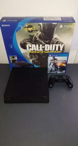 Play Station 4 Slim 500GB + Joystick + Juego (Battlefield 4)