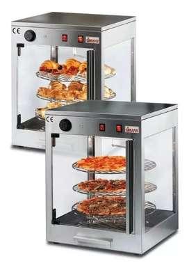 Vitrina caliente para hojaldres y pizzas