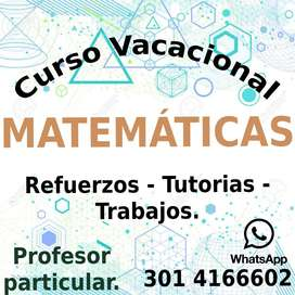 Profesor de matemáticas particular refuerzos vacacionales Tunja.