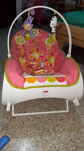Silla mecedora + silla comedor para bebe Fisher price