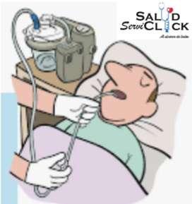 Succión e higiene bronquial para pacientes crónicos en casa