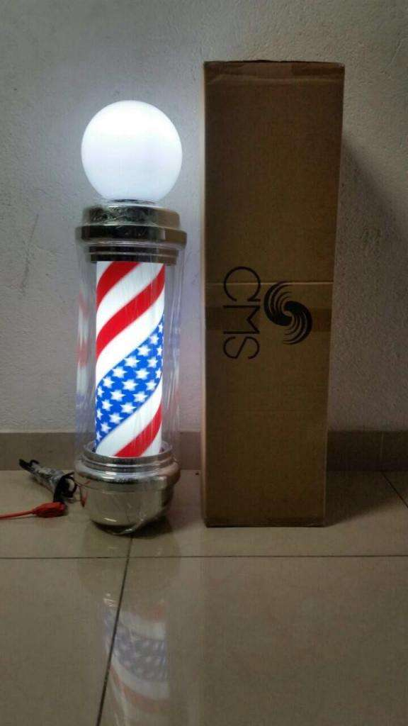 Aviso Poste Barberia Luminoso Barber Shop 70 Cms 0