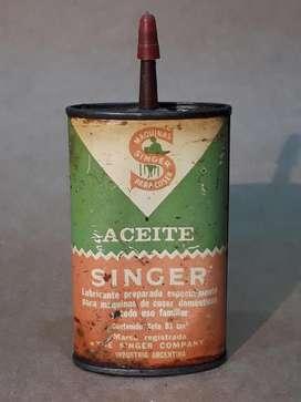 Lata De Aceite Para Máquina De Coser Singer año 50