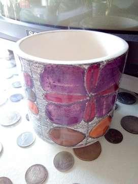 Vaso para Vela de Porcelana
