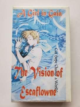 Vhs The visión of escaflowne a girl in gaia anime japones