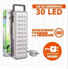 Luz De Emergencia con 30 Leds, Recargable por USB, excelente calidad y duración.