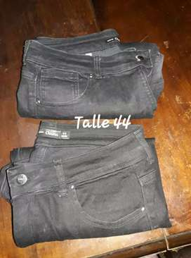 Jeans negros usados talle 44