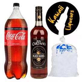 8161RonCartavioBlackBarrel750ML+CocaCola1.5L + Hielo