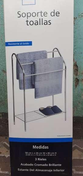 Soporte toallero cromado nuevo