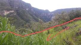 Terreno en venta con vista a la catarata Gocta y vista a las montañas a 5minutos de cocachimba