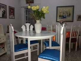 Mesa de cedro blanca