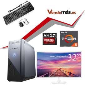 Computadora 32 Pulgadas Cpu Pc Dell Ryzen 5 8gb 1tb Gpu 4gb