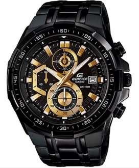 Reloj Casio Edifice Cronógrafo Efr-539bk Nuevo Con Garantía