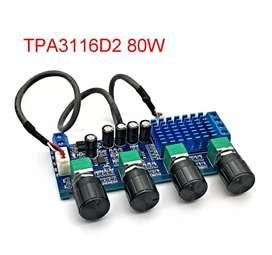 Modulo amplificador 80W X 2 con pre de tonos
