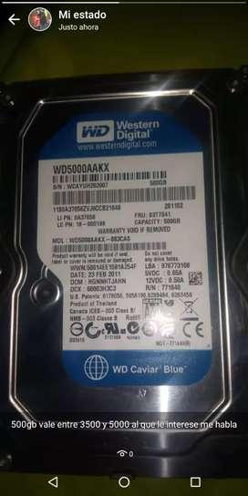 DISCO DURO WÉSTERN DIGITAL 500GB