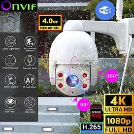 Camara de Seguridad Wifi Motorizada Ptz 360° 4mp Ultra Hd 4k 1080p Ip P2p
