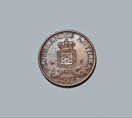 Moneda de las Antillas Holandesas, 1 cent, 1977, VF