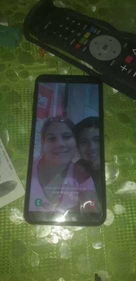 Vendo celular J4 + color rosa atras