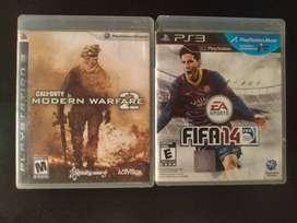 Combo Fifa 14 y Call of duty Modern Warfare 2 PS3 Negociable
