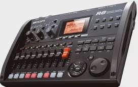 Controlador Grabador Digital 8 canales pistas Efectos Guitarra Bajo Teclado Batería Zoom R8