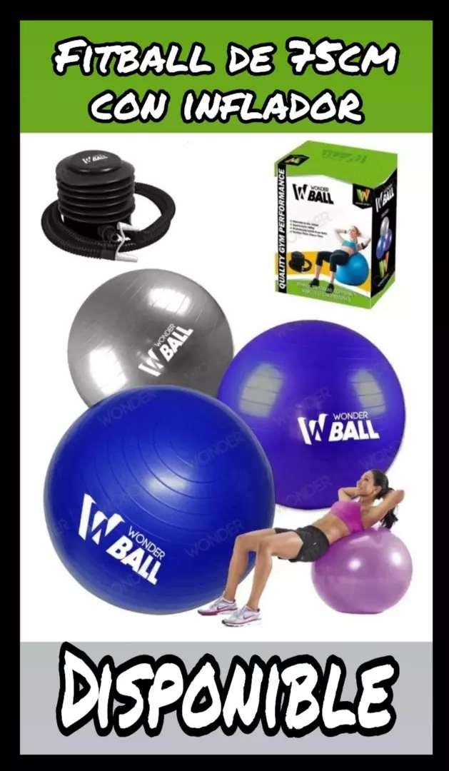Balón de yoga WONDER SPORT con inflador 0