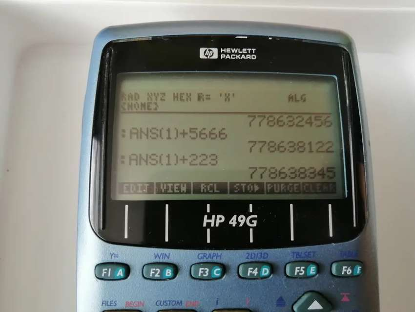 Calculadora HP programable 49g integrales derivadas series 0