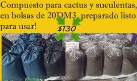 Sustrato para cactus y suculentas 20 Dm3