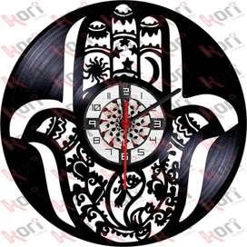 Reloj en vinilo LP / vinyl clock mandala yoga