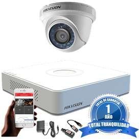 Cámaras De Seguridad Kit 720p Hikvision Mini Dvr 4ch + 1 Cám