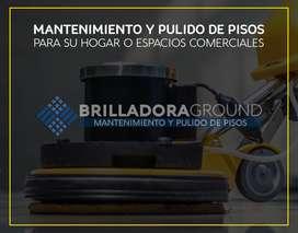 Cristalizado, diamantado y mantenimiento de pisos en cali - Brilladora Ground