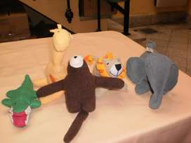 5 Peluches Hechos a Mano