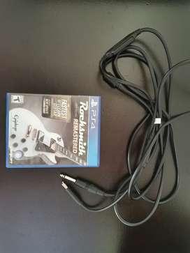 Vendo juego Rocksmith 2014 PS4 con cable