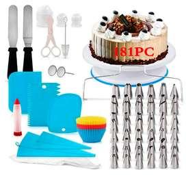 Kit de herramientas para decoración de tartas, 181 piezas herramientas de repostería tortas y Cakes y horneados