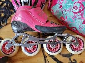 Vendo patines profesionales  + protecciones.