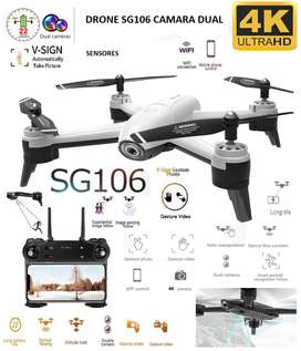 Drone SG106 Doble Camara 4K wifi 20 min 100 m sensor optico estable altitud