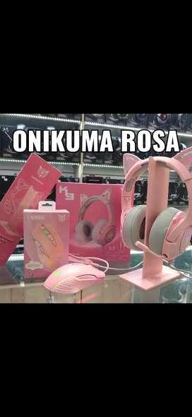 Combo diadema Onikuma k9 rosa + Mouse CW905 Onikuma Gamers