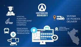 Facturación electrónica, Sistema de Pedidos  Tienda virtual, Apps, Transportes, Educativo Punto de Venta, Farmacias, etc