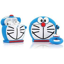 Airpods con estuche de Doraemon con llavero!