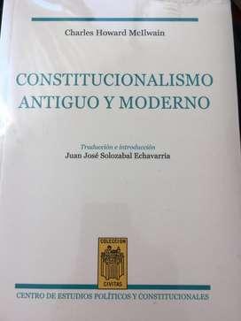 Constitucionalismo Antiguo y Moderno McIlwan