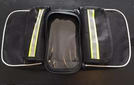 Alforja de 2 bolsillos y porta celular