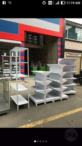 Mobiliario para supermercado, góndolas desarmables, graduables y fijas ,autoservicio