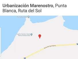 Venta de terreno en la Ubanización Marenostro en Punta Blanca, Ruta del Spondylus