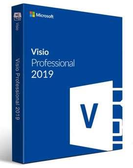 Microsoft Visio 2019 y 2016 Professional 1 Pc de por Vida Licencia Original Microsoft