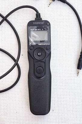 Cable de control remoto con temporizador de liberación del obturador Neewer compatible con Canon