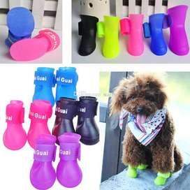 Zapatos Mascotas Animales Perro Silicona Goma Talla (XL Y L)