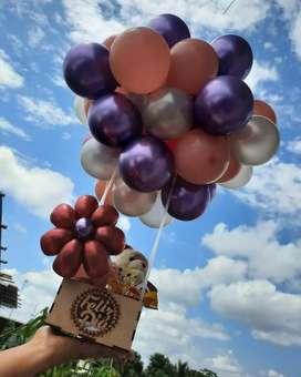 Bouquets de globos y decoraciones