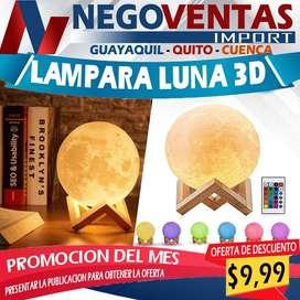 LAMPARA LUNA 3D
