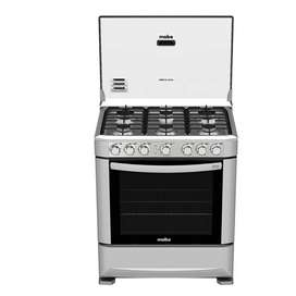 Mabe Cocina 6 Quemadores Gas Acero Inox Encendido Elec